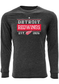 Detroit Red Wings Levelwear screen printed Fashion T Shirt - Grey