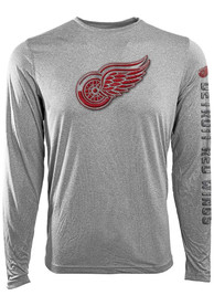Detroit Red Wings Levelwear screen printed T-Shirt - Grey