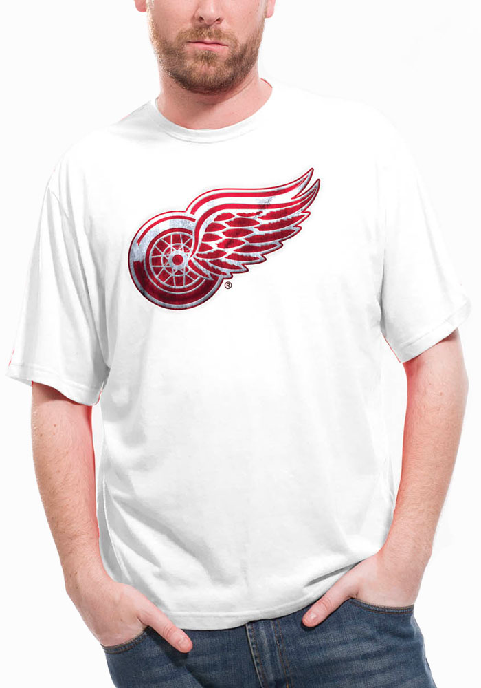 Henrik Zetterberg Detroit Red Wings Red screen printed Short Sleeve Player T Shirt - Image 2
