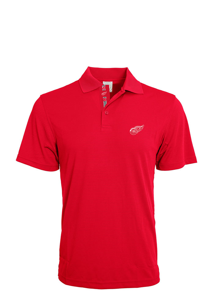 Detroit Red Wings Mens Red Evolve Short Sleeve Polo - Image 1