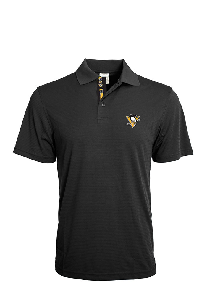 Pittsburgh Penguins Mens Black Evolve Short Sleeve Polo - Image 1