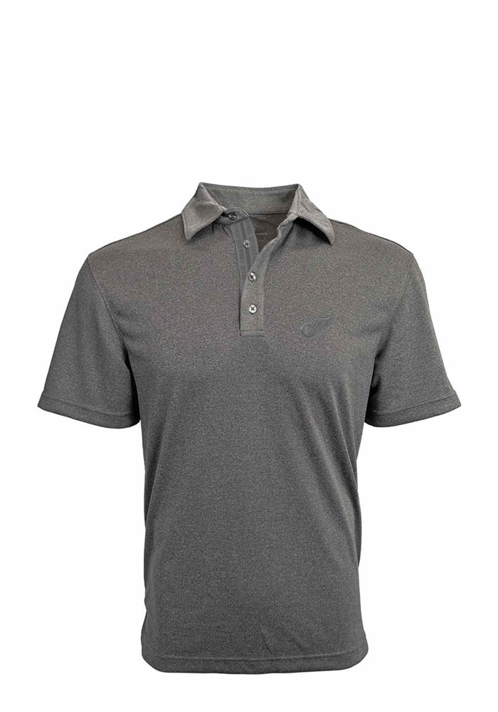 Detroit Red Wings Mens Grey Affirmed Short Sleeve Polo - Image 1
