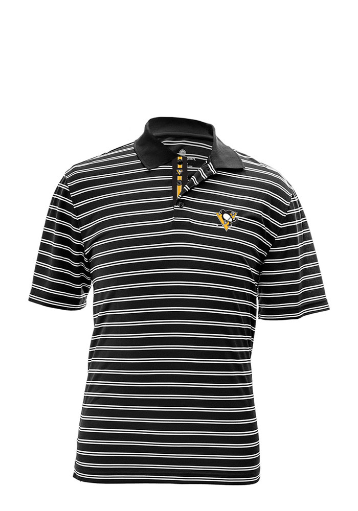 Pittsburgh Penguins Mens Black Manning Short Sleeve Polo - Image 1