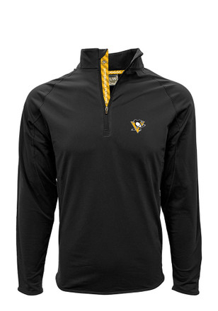 Pittsburgh Penguins Mens Black Metro 1/4 Zip Pullover