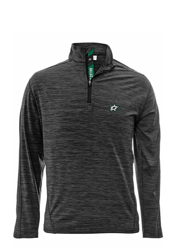Dallas Stars Mens Charcoal Armour Long Sleeve 1/4 Zip Pullover - Image 1