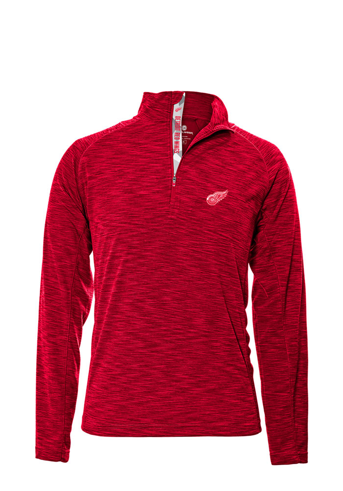 Levelwear Detroit Red Wings Mens Red Mobilityt Long Sleeve 1/4 Zip Pullover - Image 1