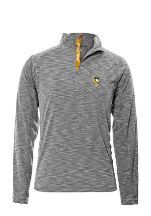 Pittsburgh Penguins Mens Grey Mobility 1/4 Zip Pullover