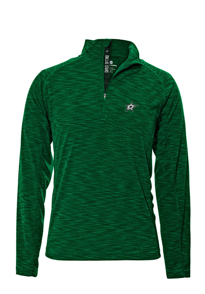 Dallas Stars Mens Green Mobility Long Sleeve 1/4 Zip Pullover - Image 1