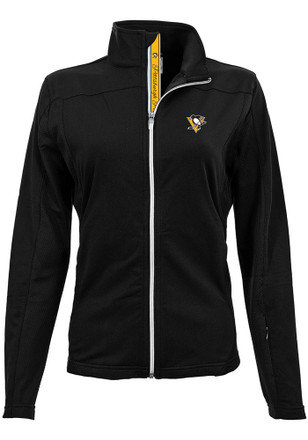 Pittsburgh Penguins Womens Black Aurora Full Zip Jacket