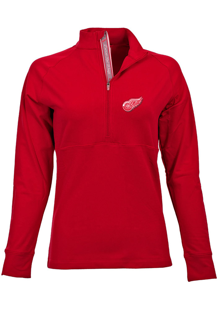 Detroit Womens Red Harmony 1/4 Zip Pullover - Image 1