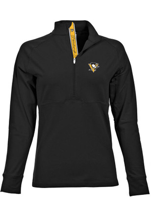 Pittsburgh Penguins Womens Harmony Black 1/4 Zip Pullover
