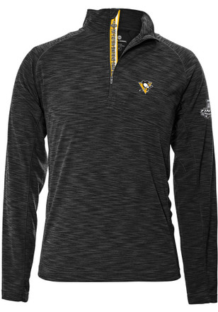 Pittsburgh Penguins Mens Grey 2017 Stanley Cup Finals 1/4 Zip Pullover