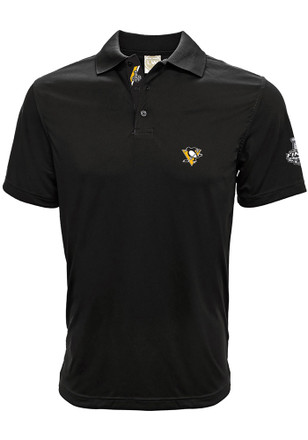 Pittsburgh Penguins Mens Black 2017 Stanley Cup Finals Short Sleeve Polo Shirt