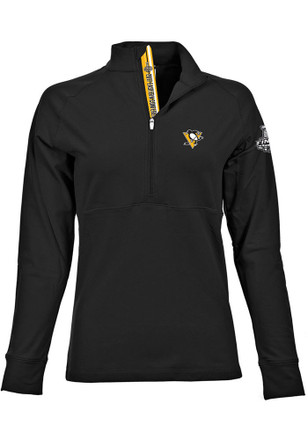 Pittsburgh Penguins Womens 2017 Stanley Cup Finals Black 1/4 Zip Pullover