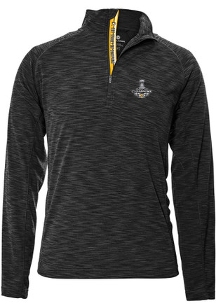 Pittsburgh Penguins Mens Grey 2017 Stanley Cup Champions 1/4 Zip Pullover