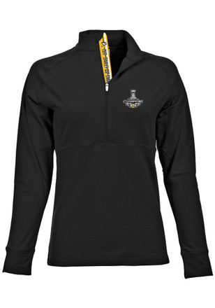 Pittsburgh Penguins Womens 2017 Stanley Cup Champions Black 1/4 Zip Pullover