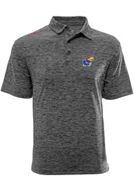 Kansas Jayhawks Levelwear Haze Polo Shirt - Grey