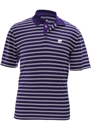 K-State Wildcats Mens Purple Manning Icon Short Sleeve Polo Shirt