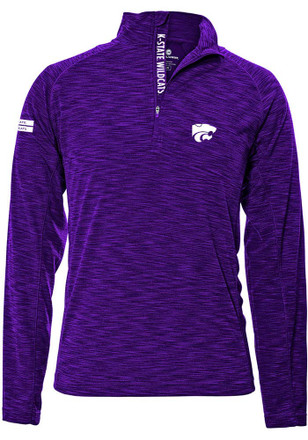 K-State Wildcats Mens Purple Insignia Strong 1/4 Zip Pullover