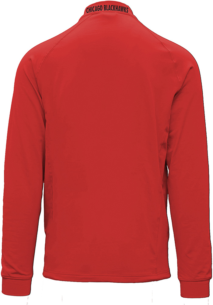 Chicago Blackhawks Mens Red Calibre Long Sleeve 1/4 Zip Pullover - Image 2