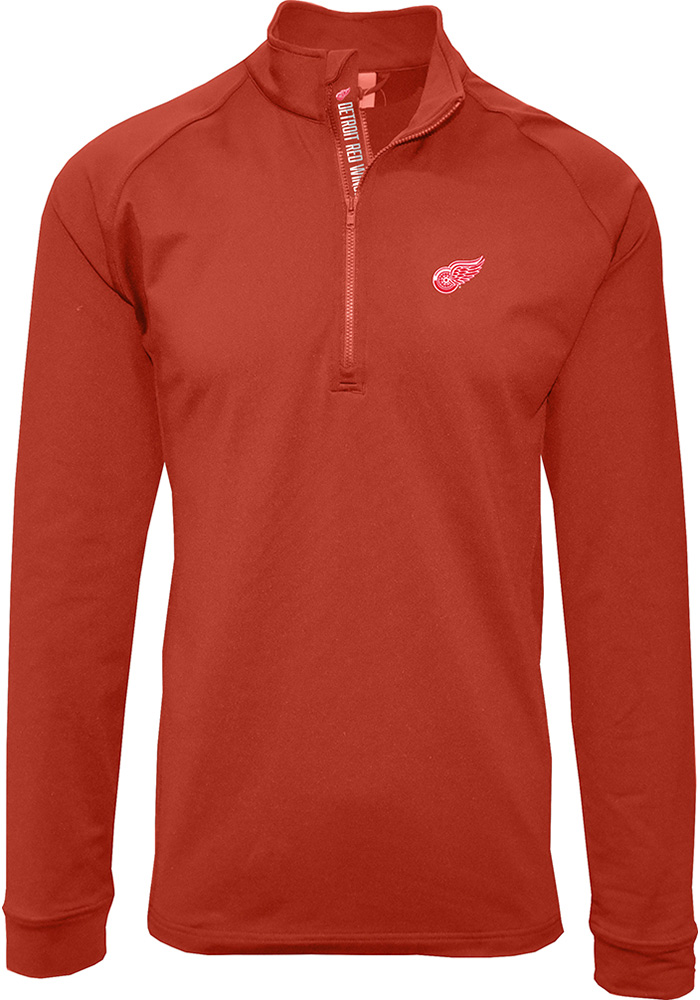 Detroit Red Wings Mens Red Calibre Long Sleeve 1/4 Zip Pullover - Image 1