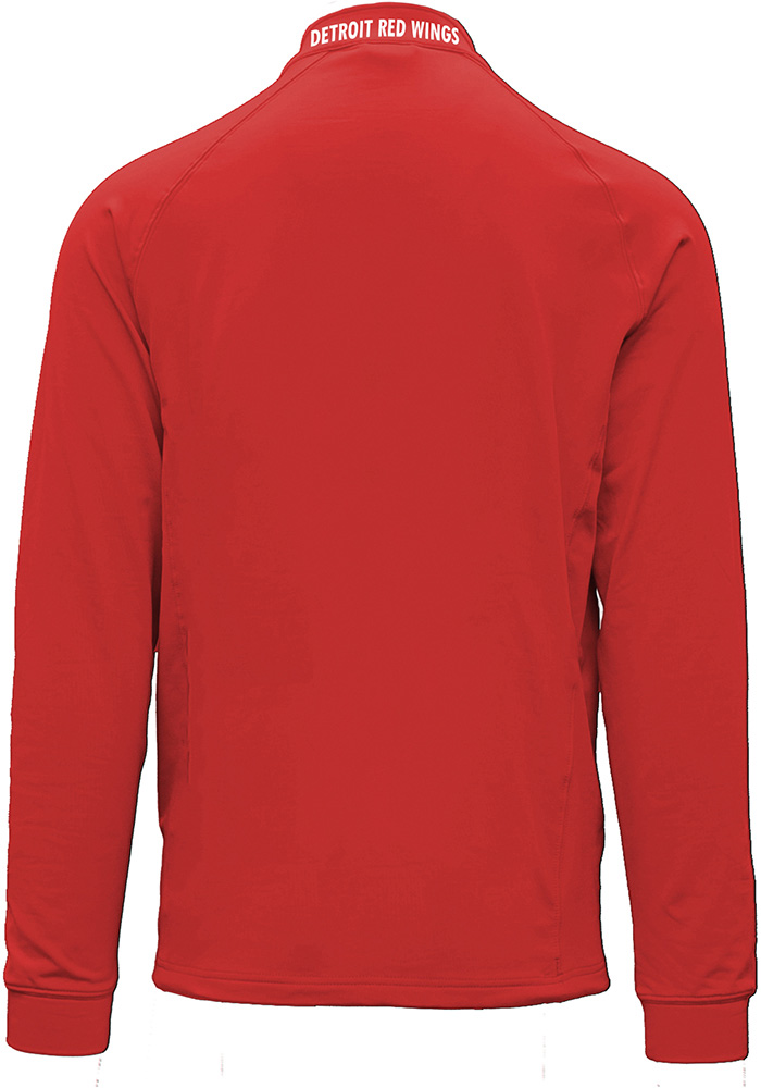 Detroit Red Wings Mens Red Calibre Long Sleeve 1/4 Zip Pullover - Image 2
