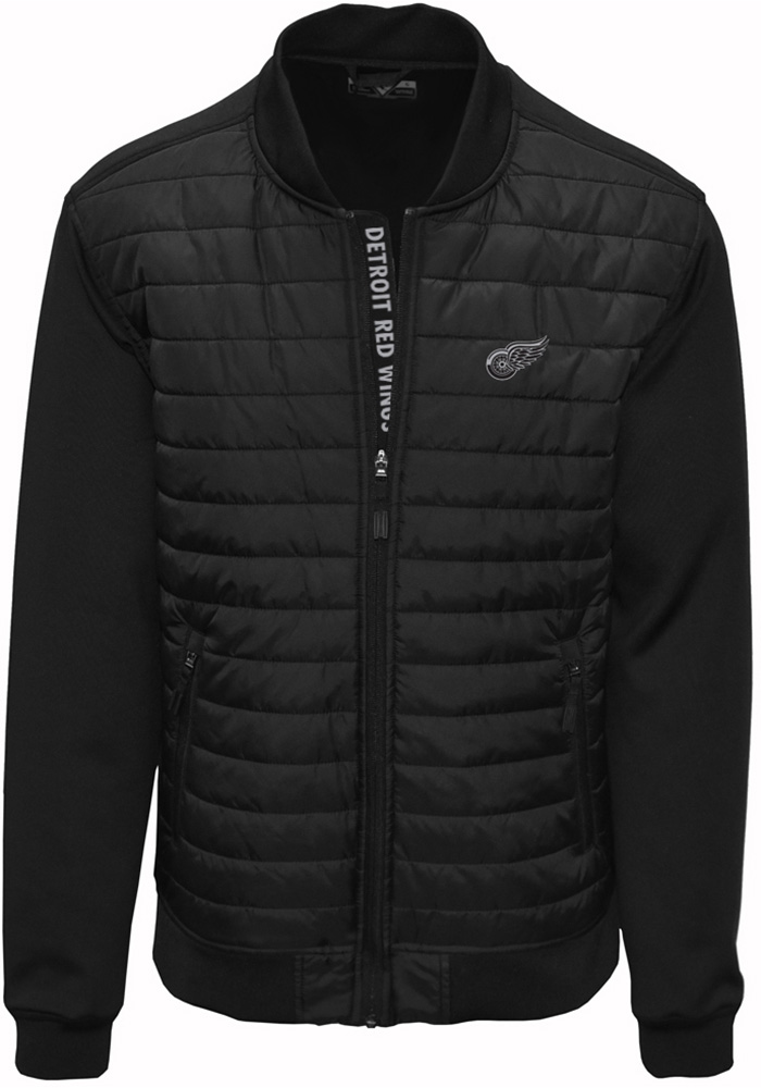 Detroit Red Wings Mens Black Hatch Heavyweight Jacket - Image 1