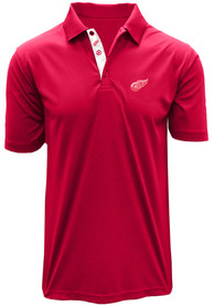 Detroit Red Wings Red Dwayne Short Sleeve Polo Shirt