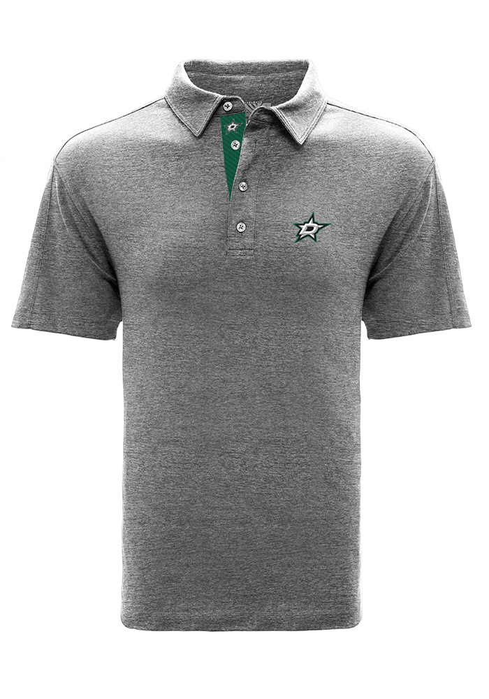 Dallas Stars Mens Grey Reign Short Sleeve Polo - Image 1