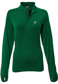 Dallas Stars Womens Pacer Aztext Script Green 1/4 Zip Pullover