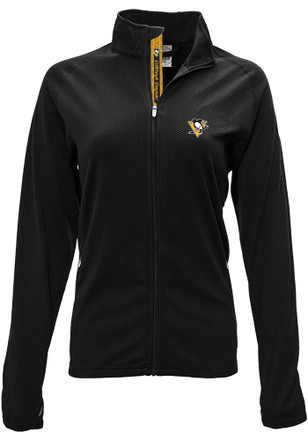 Pittsburgh Penguins Womens Black Progression Aztext Script Full Zip Jacket
