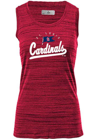 St Louis Cardinals Womens Levelwear Freedom Tank Top - Red