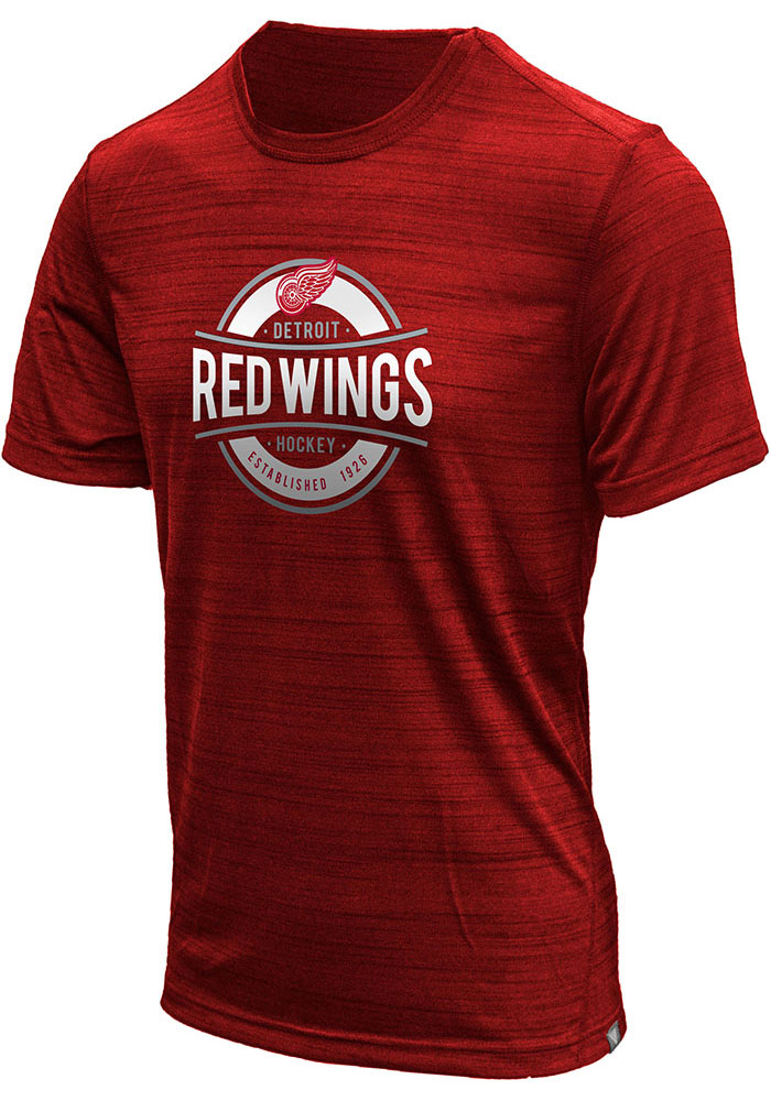 Detroit Red Wings Red Anchor Short Sleeve T Shirt - Image 1