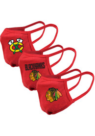 Chicago Blackhawks Guard 3pk Fan Mask - Red