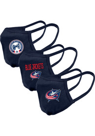 Levelwear Columbus Blue Jackets Guard 3pk Fan Mask - Navy Blue