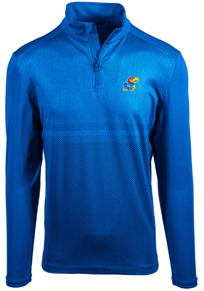 Kansas Jayhawks Blue Prevail 1/4 Zip Pullover