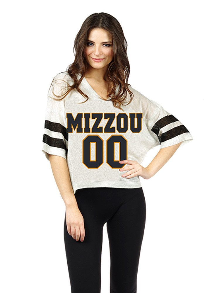 Missouri Tigers Womens Grey Sparkle Jersey Football Jersey - Image 1