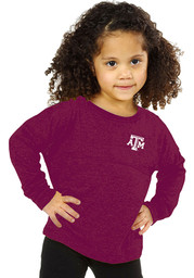 Texas A&M Girls Maroon Youth Girls Varsity Jersey Long Sleeve T-shirt