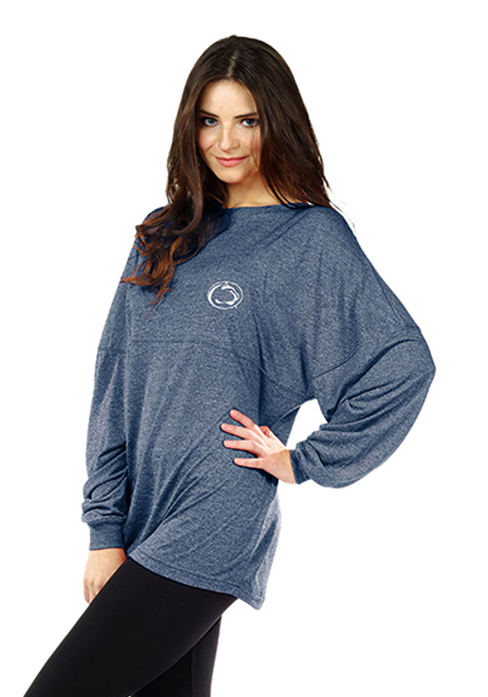 Penn State Nittany Lions Womens Navy Blue Floral LS Tee - Image 1