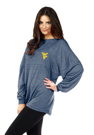 West Virginia Mountaineers Womens Floral Navy Blue LS Tee