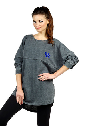 Kentucky Wildcats Womens French Terry Grey LS Tee