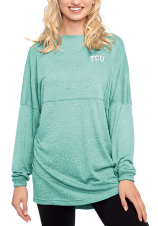 Horned Frogs Womens Varsity Jersey Teal LS Tee