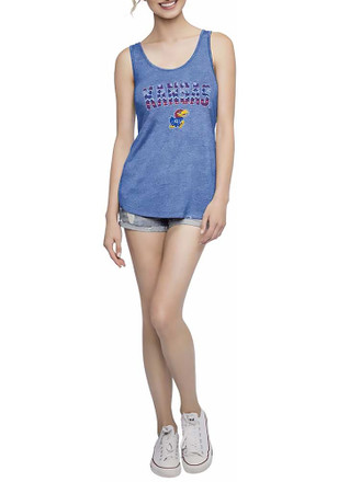 Kansas Jayhawks Womens Blue Spirit Tank Top