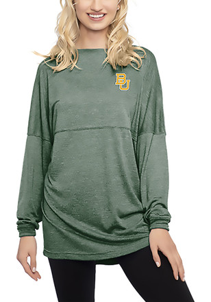 Baylor Bears Womens Floral Green LS Tee