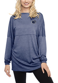Penn State Nittany Lions Womens Floral Navy Blue LS Tee