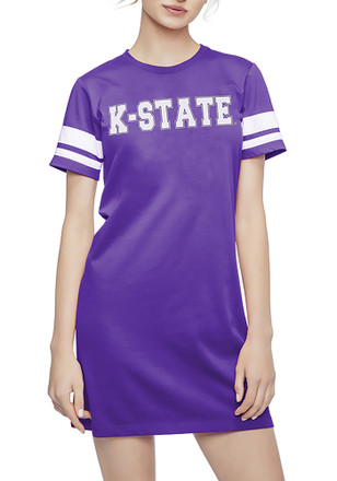 K-State Wildcats Womens Purple Jersey Stripe Dress