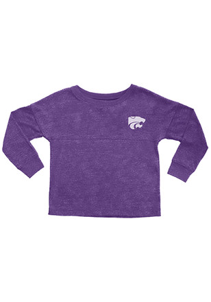 K-State Wildcats Baby Purple Varsity Floral T-Shirt
