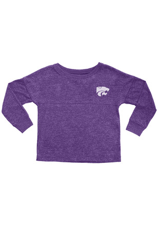 K-State Wildcats Toddler Purple Varsity Floral T-Shirt