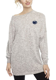 Penn State Nittany Lions Womens Cozy Fleece Grey LS Tee