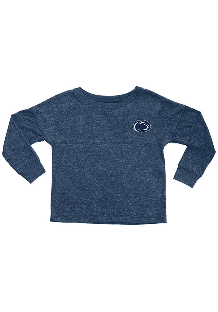 Penn State Nittany Lions Toddler Navy Blue Varsity Floral Long Sleeve T-Shirt - Image 1